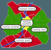 tutte le zone di Roma tutte le città della provincia